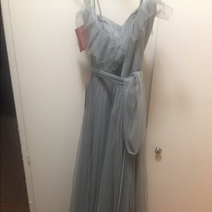 Watters & Watters Demin Blue Bridesmaid Dress